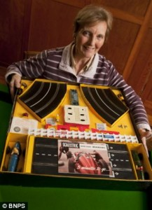 First ever Scalextric set from more than 50 years ago is given to inventor's grandchildren as a Christmas present