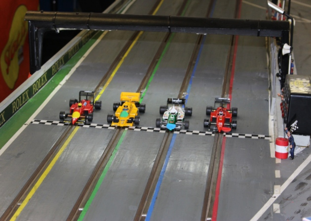 UK miniature race car drivers compete at Norfolk event